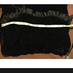 Vintage Dresses - Vintage Velvet Ruffle Dress